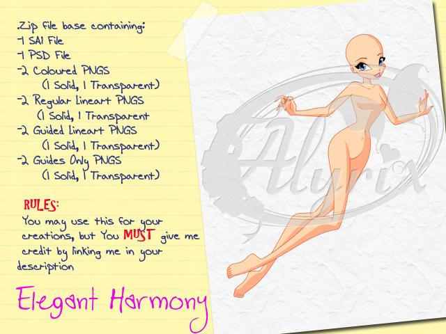 Elegant Harmony - Paid Base Pack by EnchantingRainbow