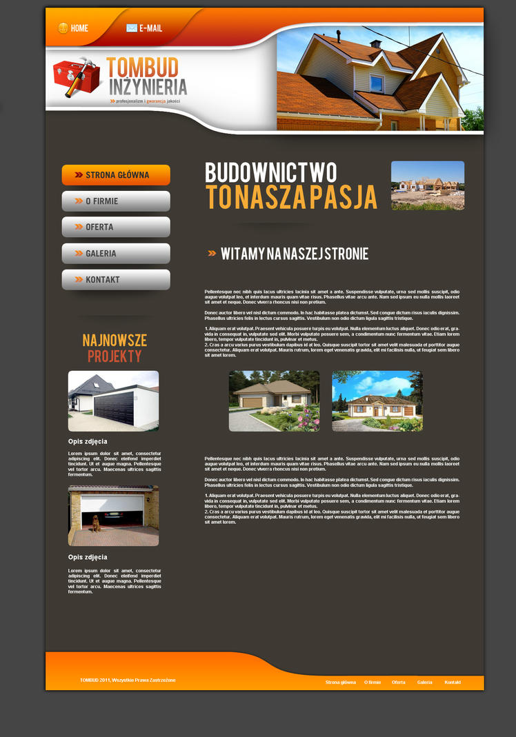 Tombud webpage by norbert design on deviantart for Web page architecture