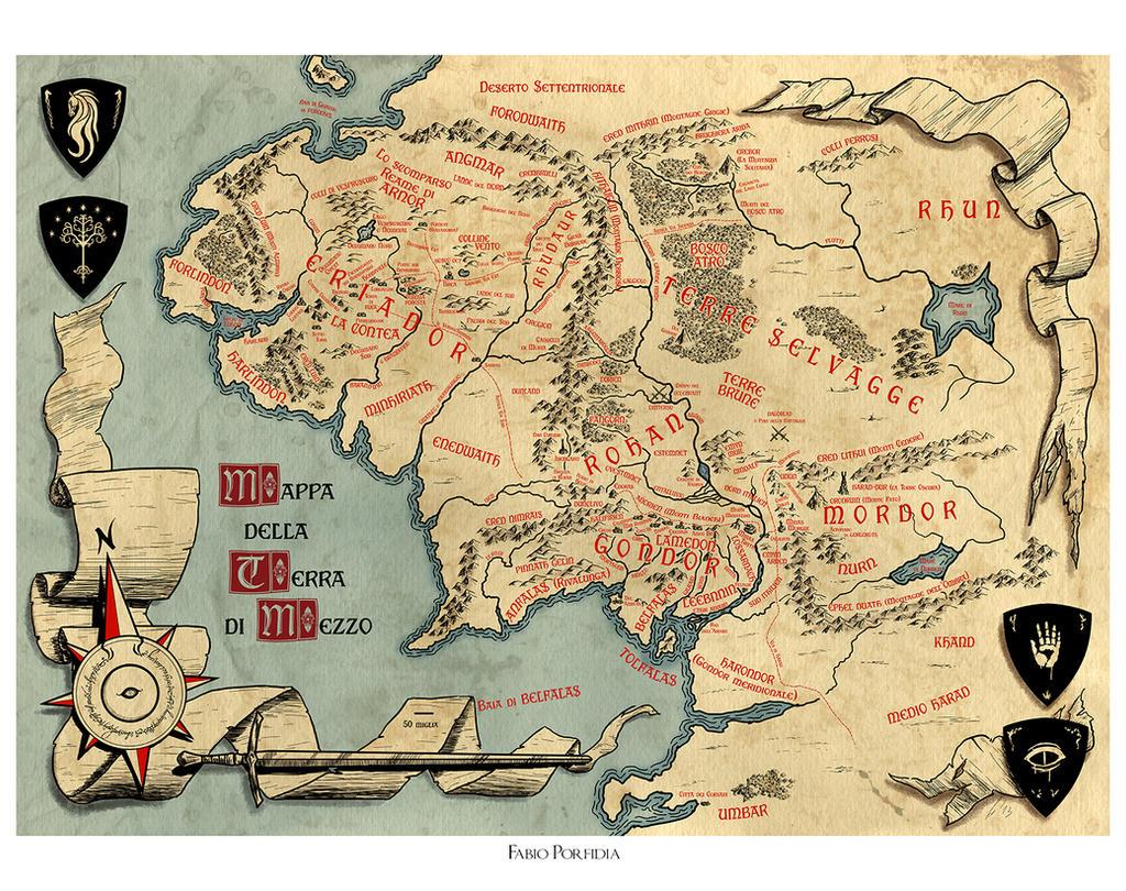 Mappa della terra di mezzo by randolfo on deviantart for Mappa della costruzione di casa