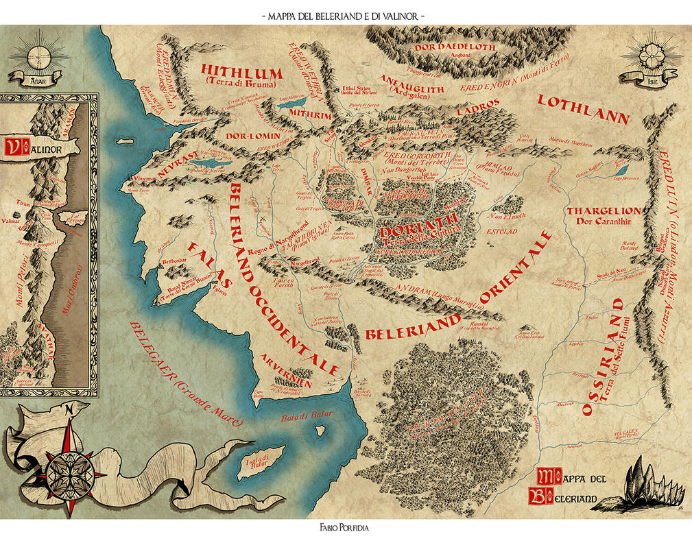 Mappa Beleriand by randolfo