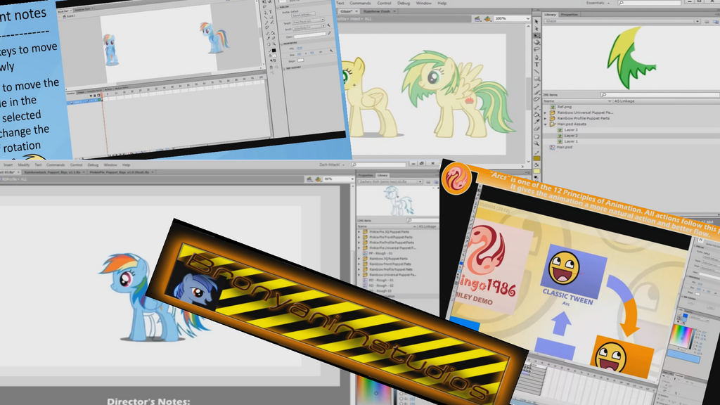 My Little Pony - Tutorials for animating by jerry411
