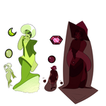Lime and Raspberry Diamond 'N Pearl Adopts|Open! by catastrophe-witch