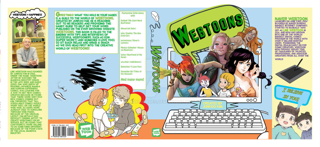 Webtoons dust jacket for book by Kako-Cakes