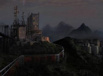 Mountain Fortress matte painti by WildWanderer