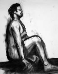 Charcoal Figure Sketch by WildWanderer