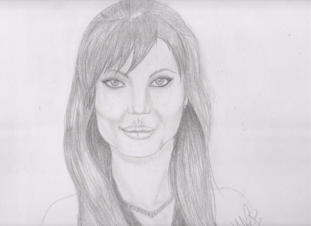 Galería de dibujos de Kivana - Página 4 Angelina_jolie_portrait_by_acroft_mn-d7gu92o
