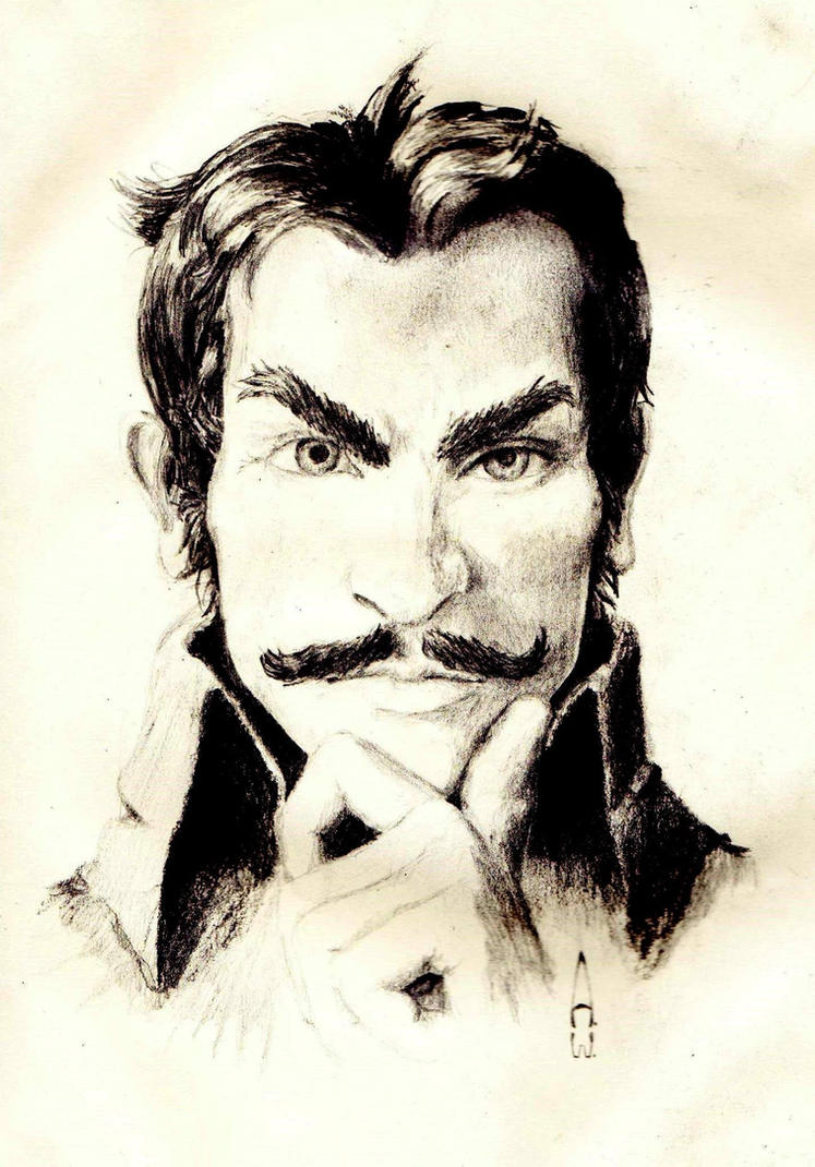 Detective Moustache by SilverBulletArt