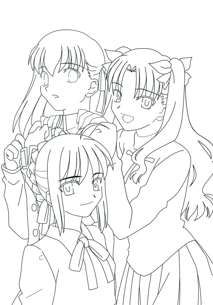 Fate Stay Night Coloring Pages Coloring Pages