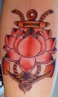 lotus and anchor