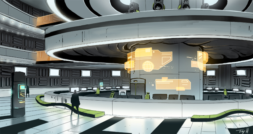 killer is dead Victor stage concept art by Tonyholmsten