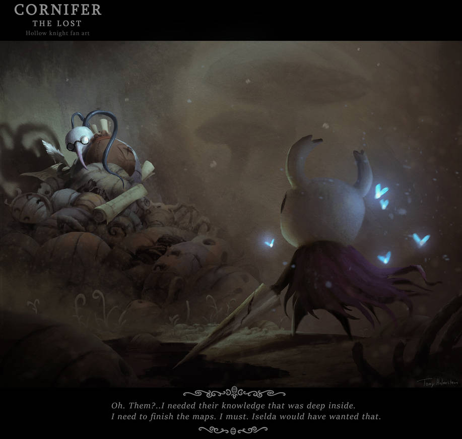 Hollow Knight Fan Art, Cornifer the lost by Tonyholmsten