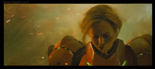 Brie Larson as Samus Aran by Tonyholmsten