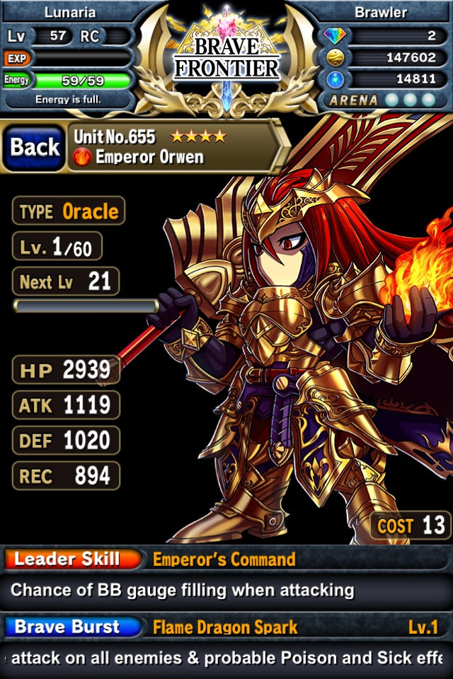 Brave Frontier: Emperor Orwen by Zorceus