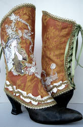 Art Nouveau Mucha Fall Spats by MAIDESTREASURIES