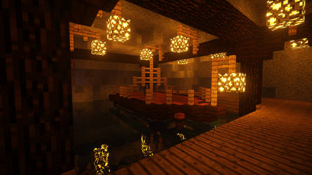 Minecraft Boat Grotto by BlackBeltPanda