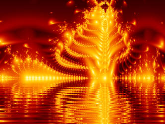 The Lake of Fire by klowndogg by Ultra-Fractal