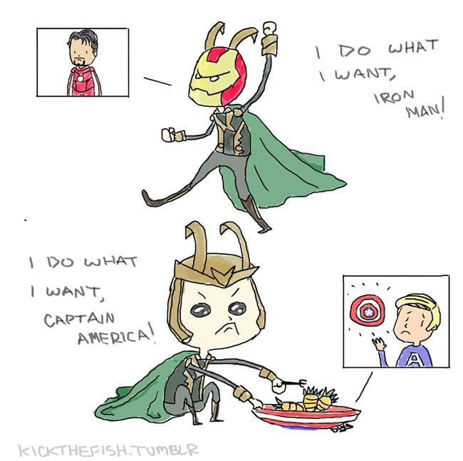 Loki does what he wants by Kyuu-tama