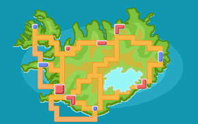 Iceland region map by Polursine
