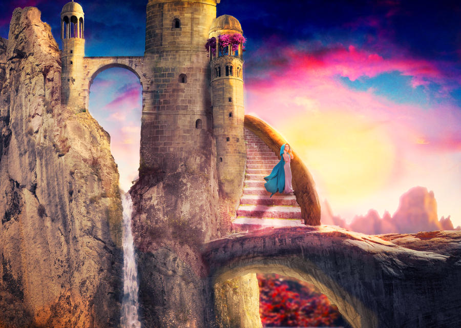 Fantasy Castle by BlondAngelMinako