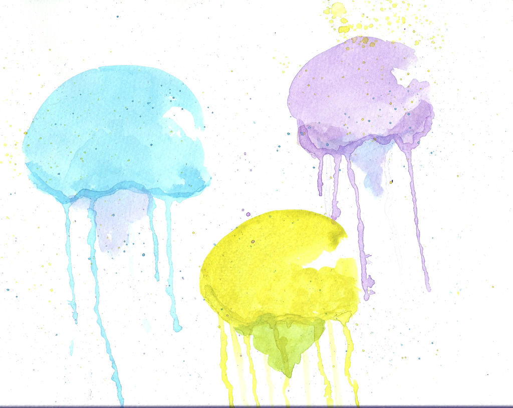 watercolour jellyfish by blue f0x on deviantart