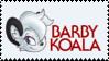 Barby Koala Stamp by joeygatorman