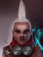 Ekko Portrait by Lushies-Art