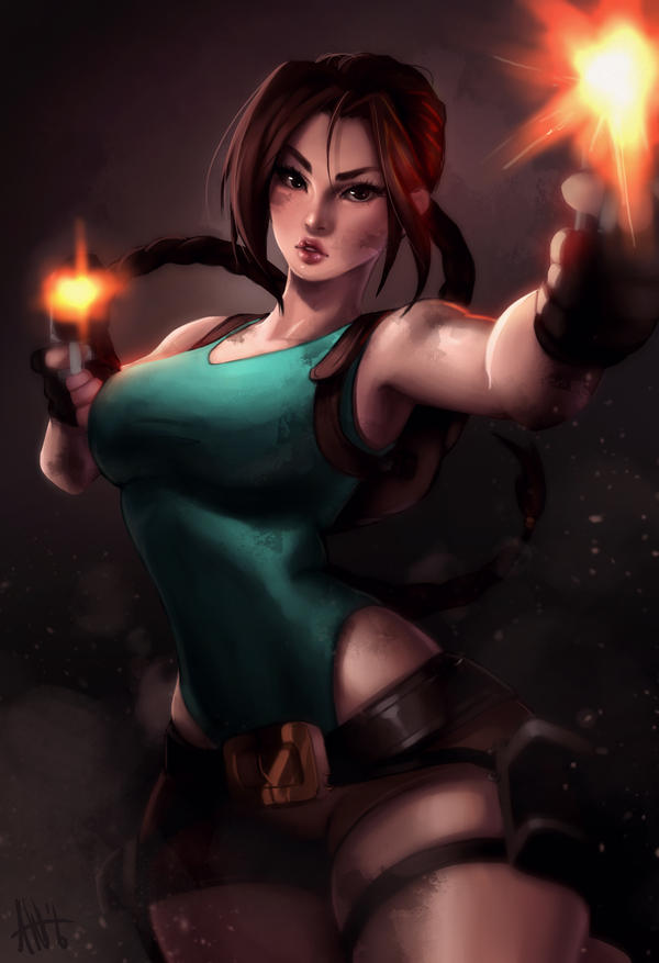 Lara Croft   20th Anniversary by Lushies-Art