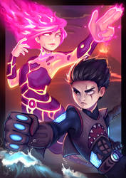 Sharkboy and Lavagirl by Lushies-Art