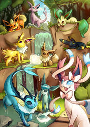 Eeveelutions by Lushies-Art