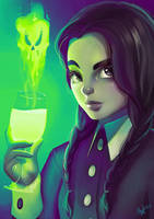 Wednesday Addams by Lushies-Art