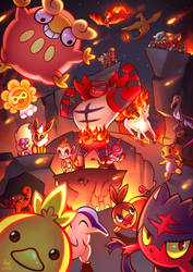 Hot! Hot! Hot! | Fire Pokemon by Lushies-Art