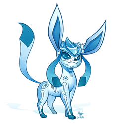 Sugar Skull Glaceon by Lushies-Art