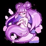 Espeon Mermaid by Lushies-Art