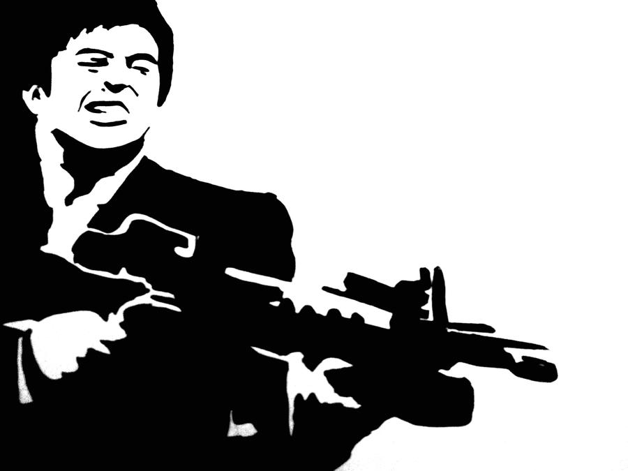 Scarface Stencil by DemixOne