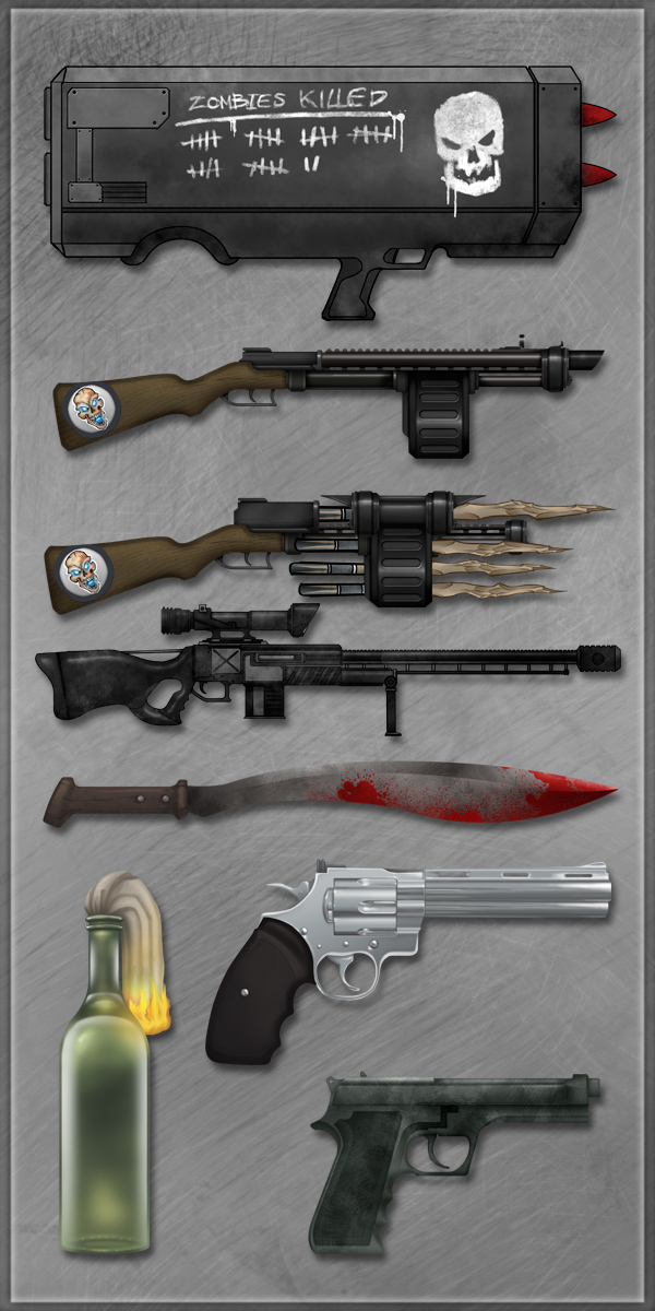 Undead Planet - Weapons 3 by sergio-garcia