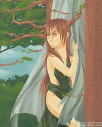 The Tree Nymph by ebanii-star