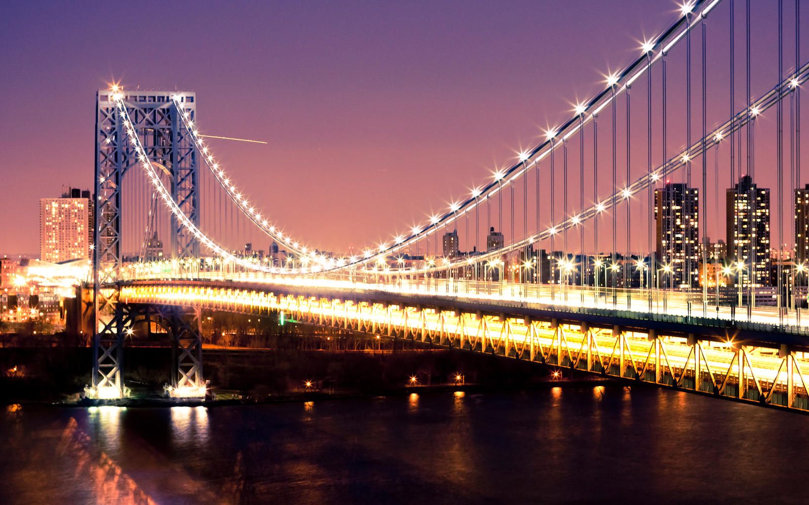 GWB at Dusk by namespace on DeviantArt