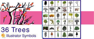 Tokidoki Trees 4 Illustrator by namespace