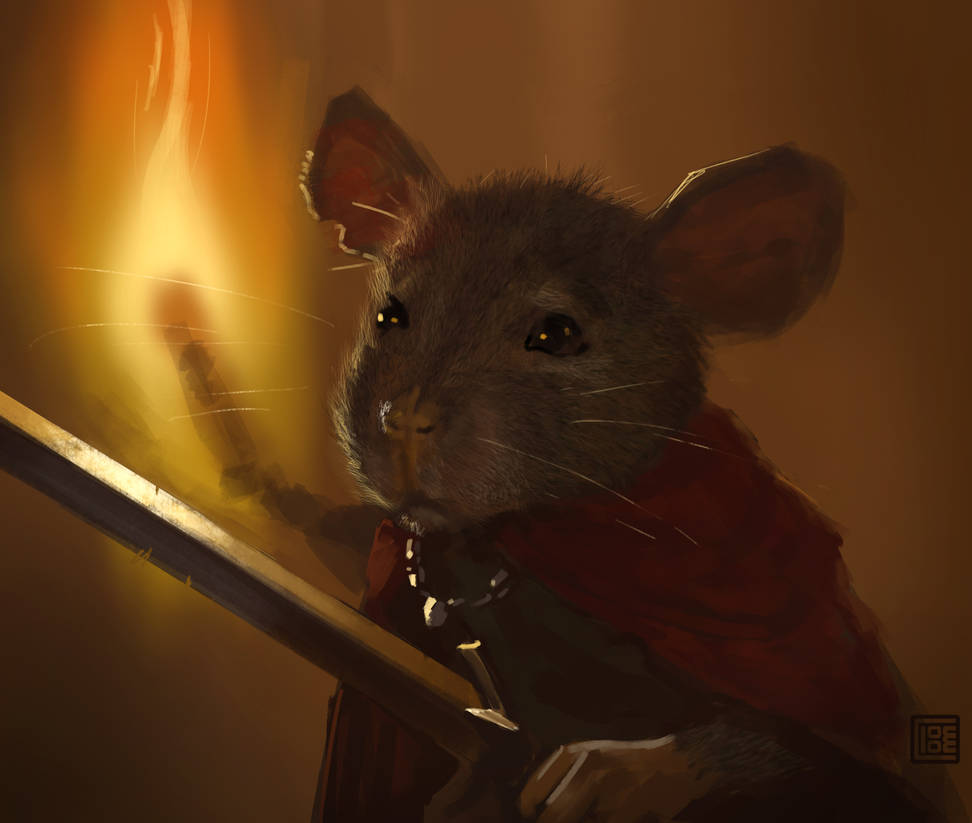 Fearless Rat (30 minutes speedpainting) by Clooms