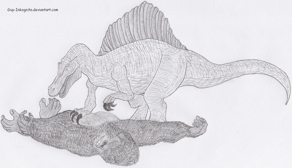 King Kong vs Spinosaurus by Guy-Inkognito on DeviantArt