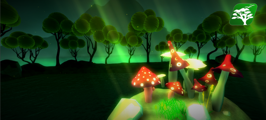Glowing Stylized Mushroom by RakshiGames