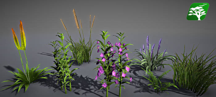 Realistic Grass and Bush Pack3