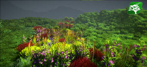Realistic Tree And Grass Pack