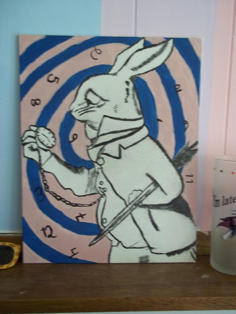 White rabbit painting - photo#24