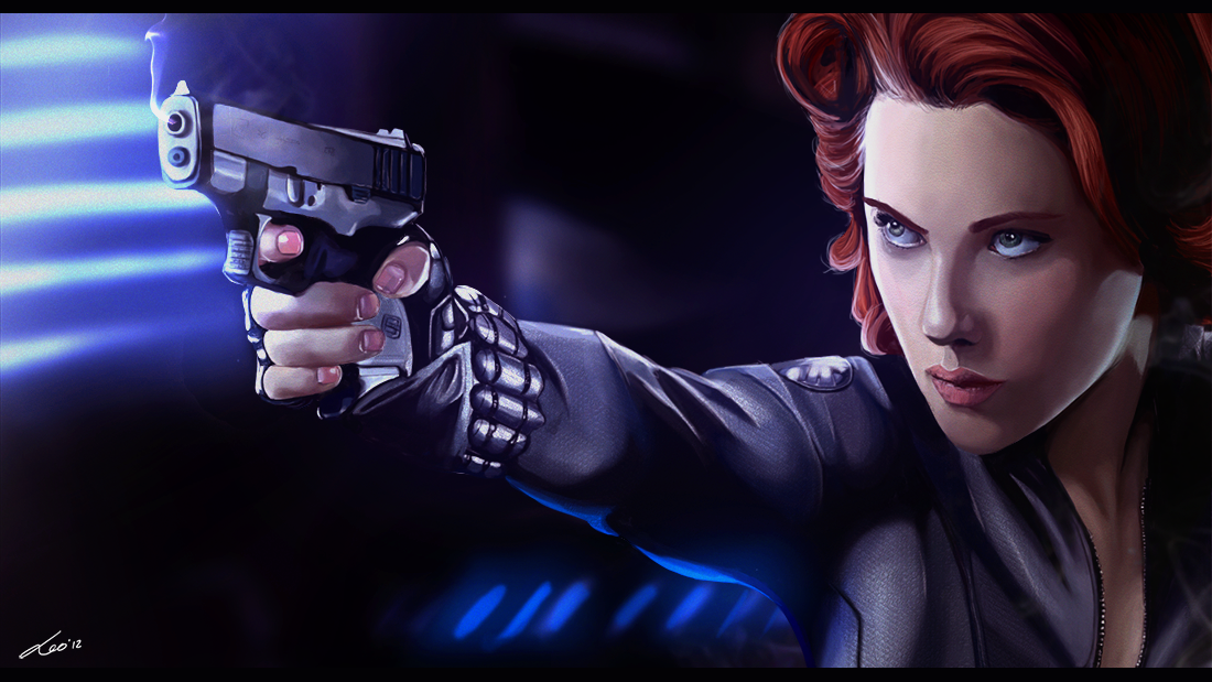 The black widow- the avengers by MatteoAscente