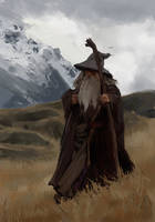 Gandalf study by MatteoAscente