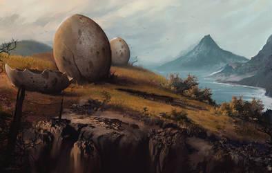 Dino-eggs- by MatteoAscente