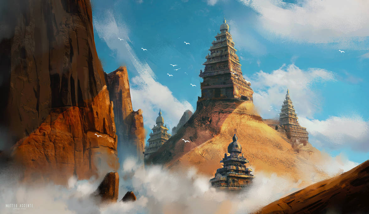 Temple on the clouds by MatteoAscente