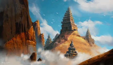 Temple on the clouds