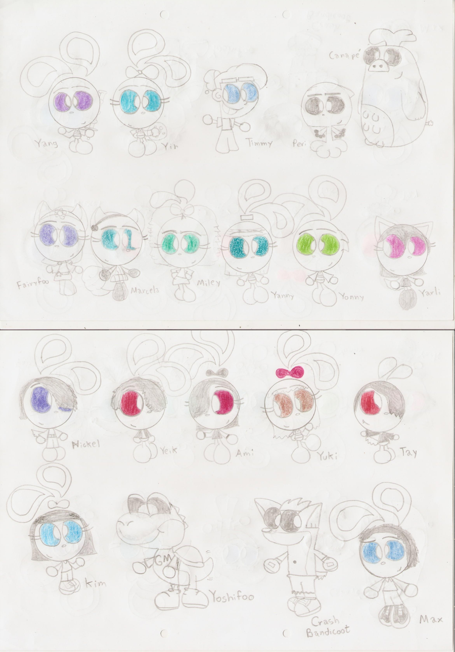 Mini toons by regularbluejay girl on deviantart for Peri y canape